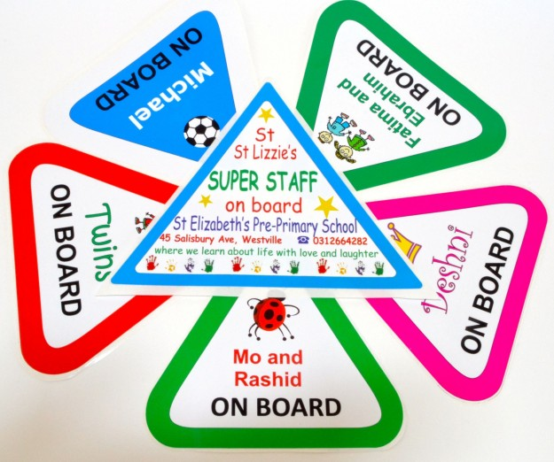 Kids on board stickers